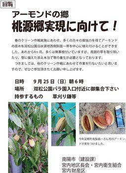 アーモンドの郷(秋のクリーン作戦).jpg